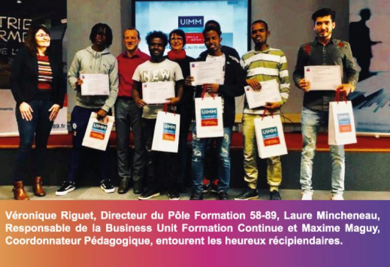 Remise certificat Pôle Formation 58-89