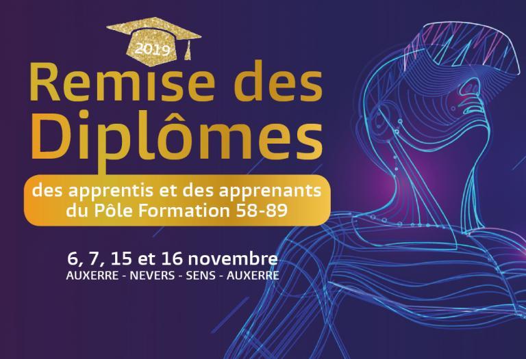 Remise des diplômes du Pôle Formation 58-89